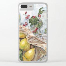 Sour Lemons With Viburnum Clear iPhone Case
