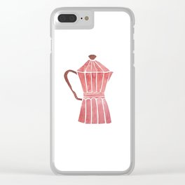 Cuban Coffee Clear iPhone Case