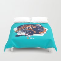 dj Duvet Covers featuring DJ Wildcats by Steven Toang