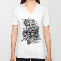 poetry V-neck T-shirts featuring Poetry by Hopler Art