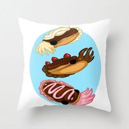 Eclair Cuttlefish Throw Pillow