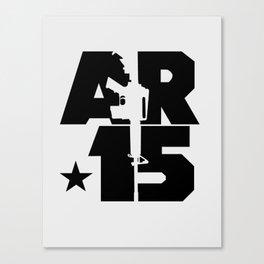 AR-15 (Silver/Black) Canvas Print