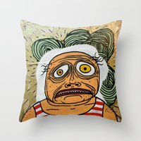 ed sheeran Throw Pillows featuring Ed by Patty Hogan