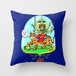 Durga Hindu Goddess Throw Pillow