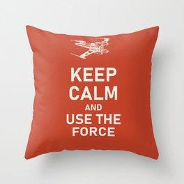 KEEP CALM X WING  Throw Pillow