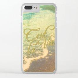 Beach Waves I - C'est La Vie Clear iPhone Case