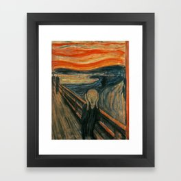 Classic Art - The Scream - Edvard Munch Framed Art Print