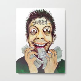 Mr. Greedy Metal Print