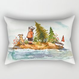 Tiny Island Rectangular Pillow