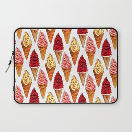 Ice Cream Pattern - Soft Serve Laptop Sleeve