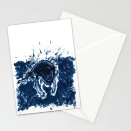 Humpback whale Blue Stationery Cards