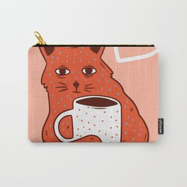 Peach Coffee Kitten Carry-All Pouch
