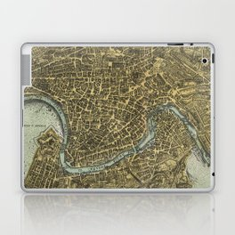 Vintage Map of Rome Italy (1716) Laptop & iPad Skin