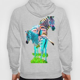 Zebra Mama and Baby Hoody
