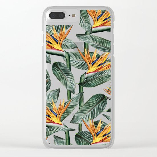 Bird Of Paradise Pattern #society6 #decor #buyart Clear iPhone Case