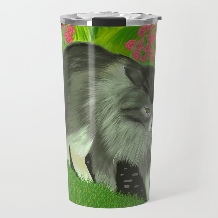 Cat In The Garden Travel Mug