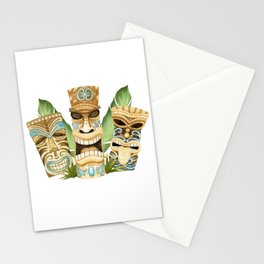 Tropical Hawaiian Deluxe Tiki Party Pattern Stationery Cards