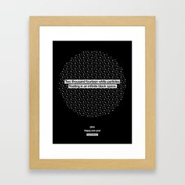 2014 Particles - Black Framed Art Print