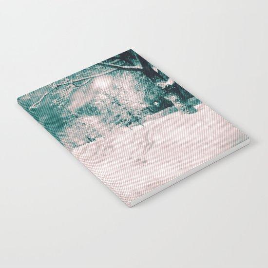Winter wonderland. Halftone effect Notebook