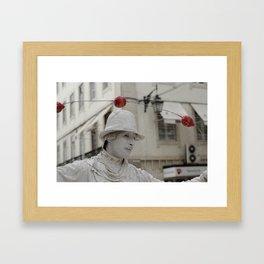 Artist white red Framed Art Print