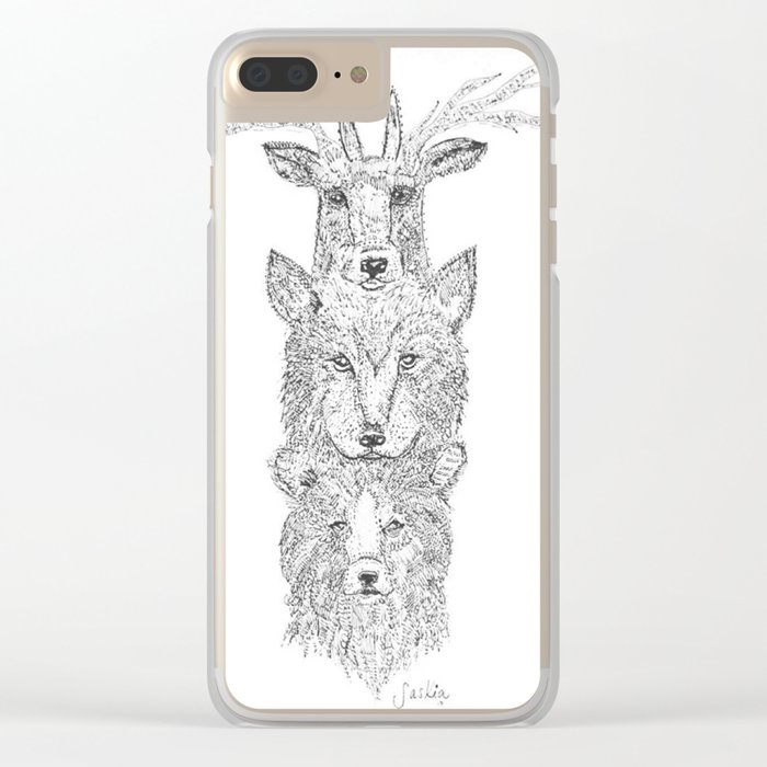 Into the Woods Clear iPhone Case
