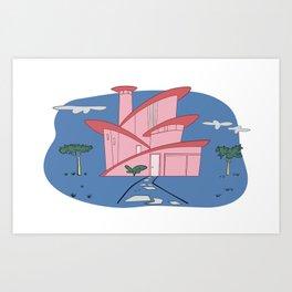Pink Panther's Modern House Art Print