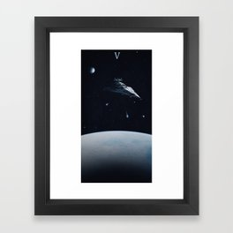 V. Framed Art Print