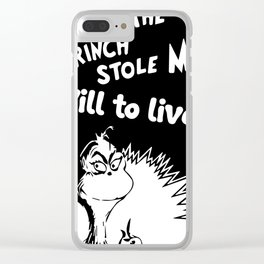 Grinch stole Clear iPhone Case