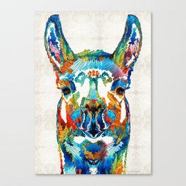 Colorful Llama Art - The Prince - By Sharon Cummings Canvas Print