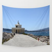 lighthouse Wall Tapestries featuring Lighthouse by L'Ale shop