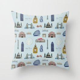 All of London's Landmarks  Throw Pillow