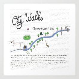 Camden to Maida Vale - City Walk Art Print