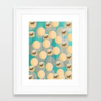random Framed Art Prints featuring Random by Megan Spencer