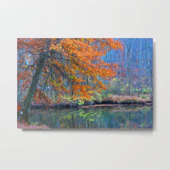 Fall on the River Metal Print