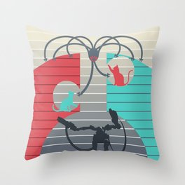 The battle for Zion Throw Pillow