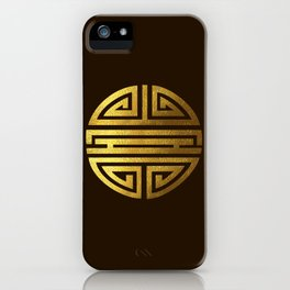 Four blessings Gold iPhone Case