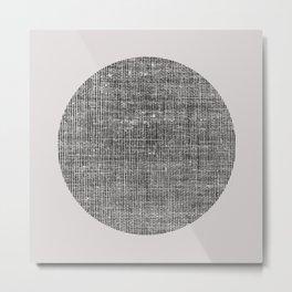 Grid Moon Metal Print