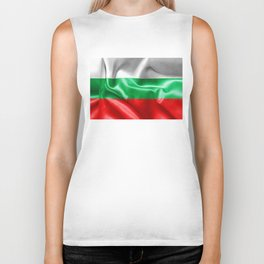 Bulgaria Flag Biker Tank