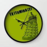 dalek Wall Clocks featuring Dalek by Digital Arts & Crafts by eXistenZ