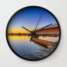 Reflections At Sundown Wall Clock