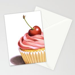 The Perfect Pink Cupcake Stationery Cards