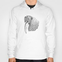 walrus Hoodies featuring Walrus by MattLeckie