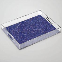 Yer a Wizard - Blue + Bronze Acrylic Tray