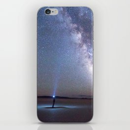 Camping under the Milky Way and stars. iPhone Skin