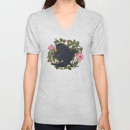 Raven and roses Unisex V-Neck