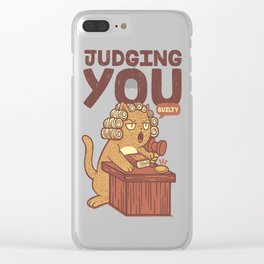 I'm Judging You Cat T-Shirt Clear iPhone Case