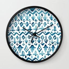 Mya Watercolor - White Wall Clock