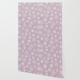 Snowflakes on pink background Wallpaper