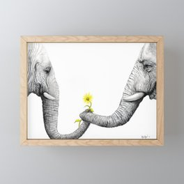 """Up Close You Are More Wrinkly Than I Remembered"" Framed Mini Art Print"