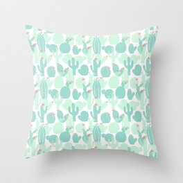 Sweet Baby Cacti Throw Pillow